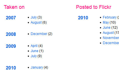 Flickr dates