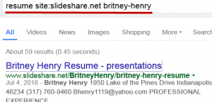 Slideshare Resume Search