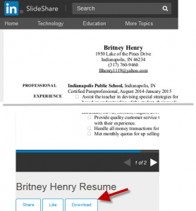 Slideshare resume download