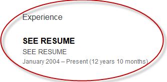 Exposing Invisible Linkedin Profiles To Retrieve Resumes