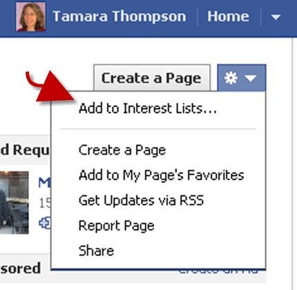 Facebook interest lists