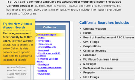 private investigator's databases